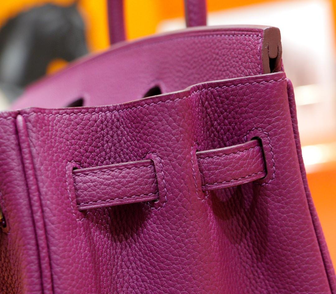 Hermès(爱马仕)Birkin 铂金包 海葵紫 Togo 全手缝 金扣 25cm
