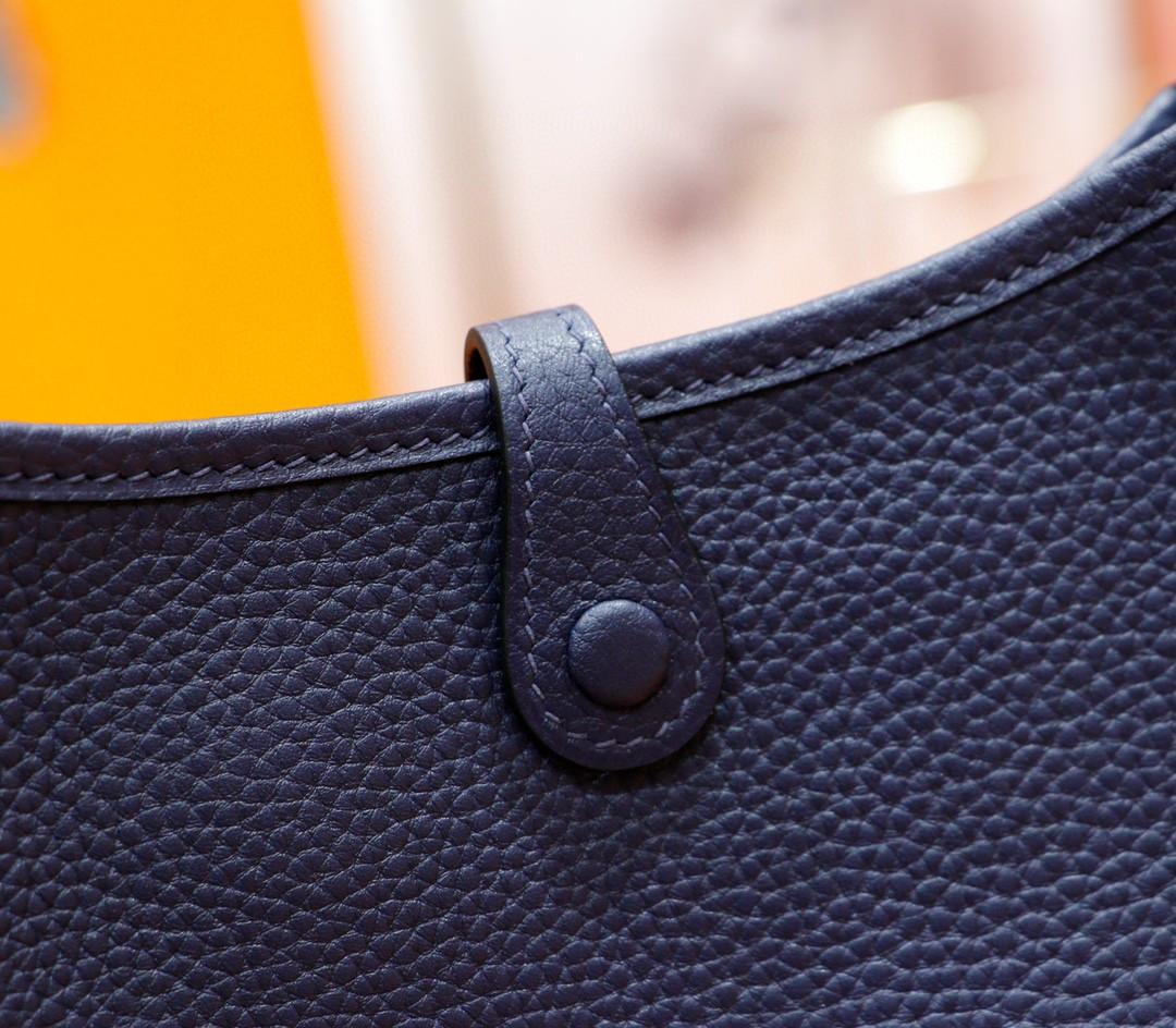 Hermès(爱马仕)Evelyne 伊芙琳 宝蓝 Togo 全手缝 银扣 17cm
