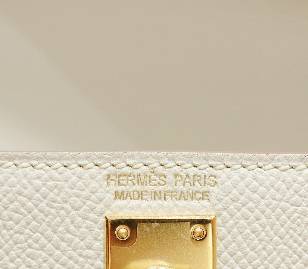 Hermès(爱马仕)Minikelly 迷你凯莉 奶昔白 Epsom 全手缝 金扣 2代