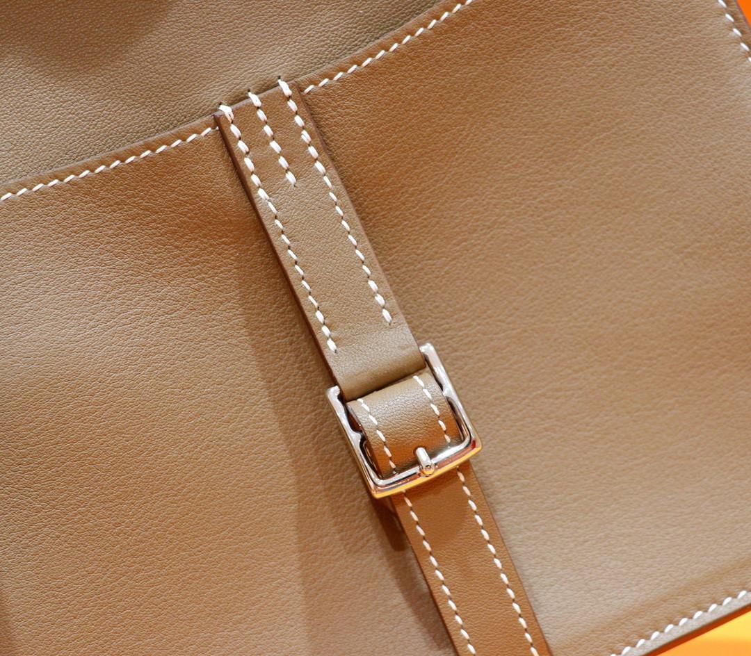 Hermès(爱马仕)Halzan 大象灰 Swift 全手缝 银扣 20cm