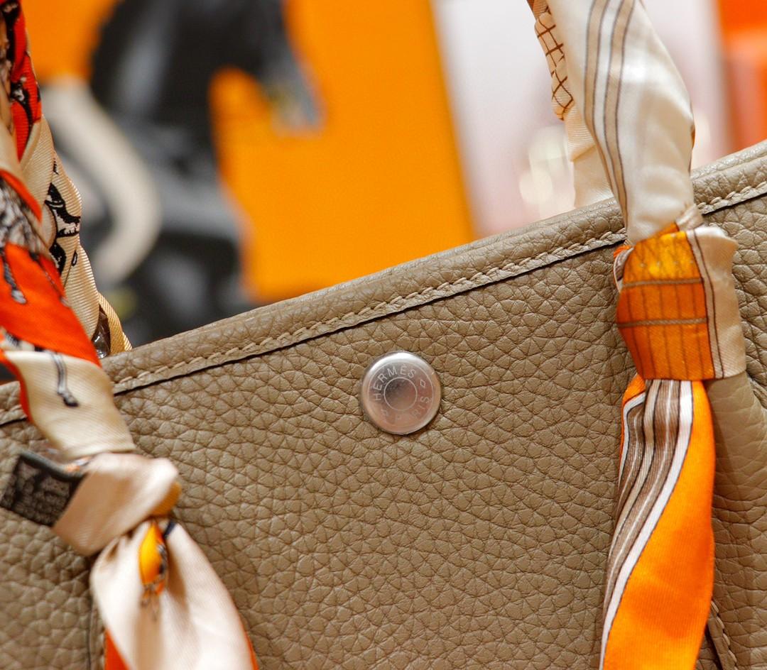 Hermès(爱马仕)Garden party 花园包 风衣灰 Togo 全手缝 银扣 30cm