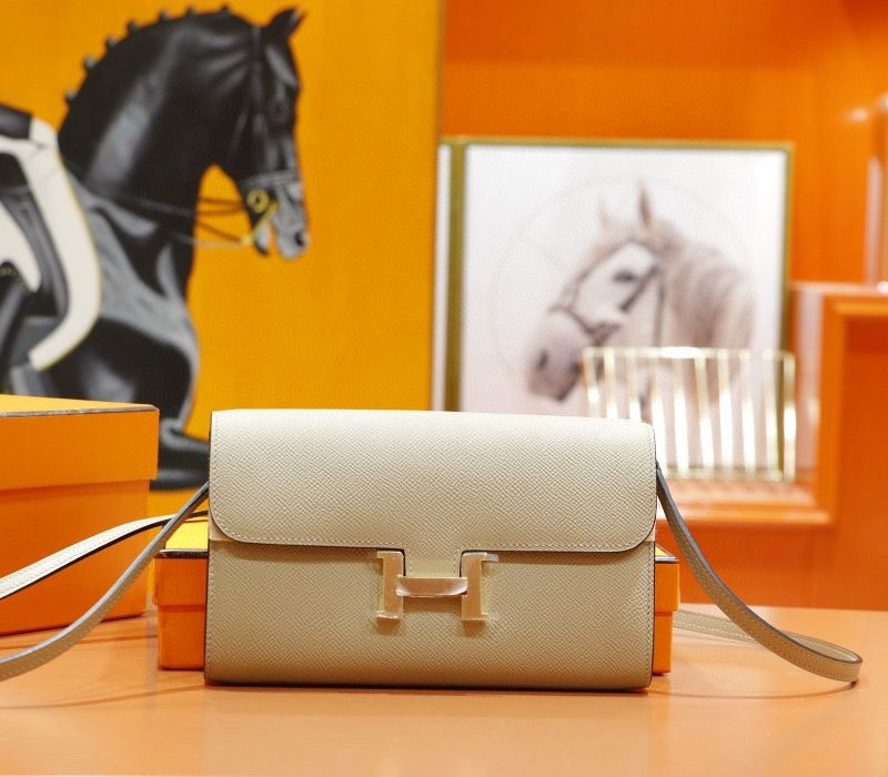 Hermès(爱马仕)Constance ToGo 风衣灰 Epsom 全手缝 金扣