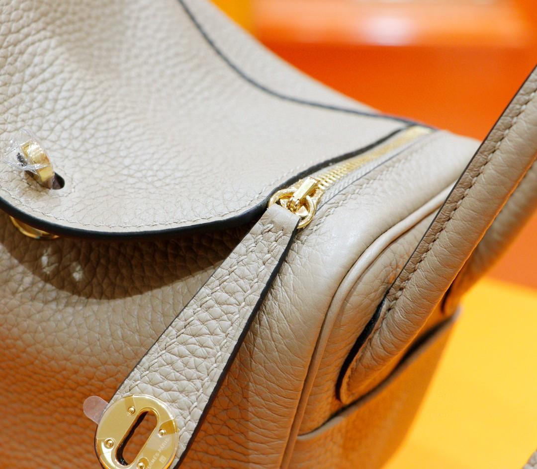 Hermès(爱马仕)Lindy 琳迪包 风衣灰 Togo 全手缝 金扣 20cm