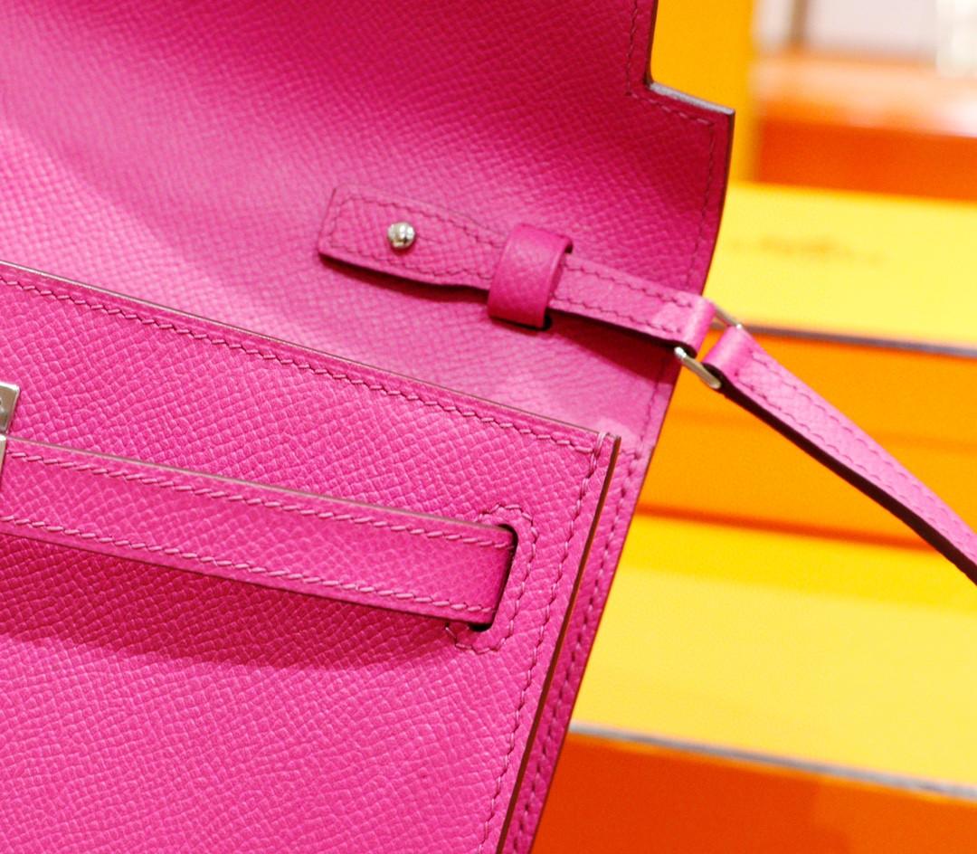 Hermès(爱马仕)Kelly ToGo 玉兰粉 Epsom 全手缝 银扣