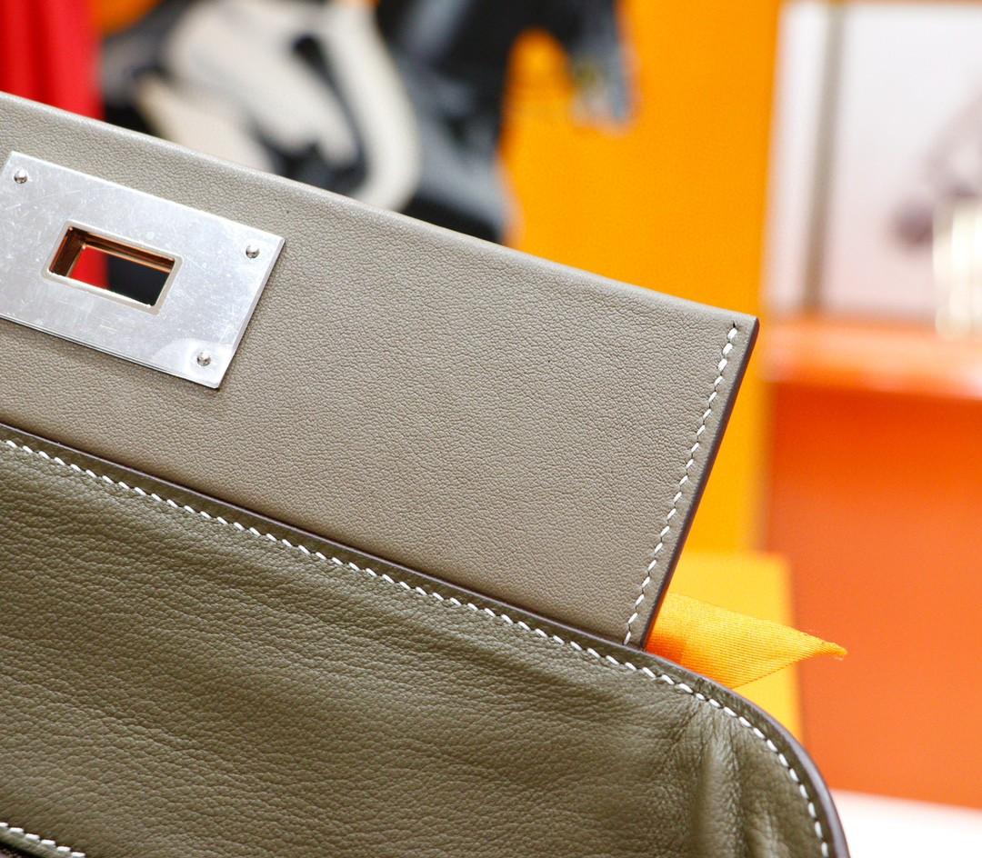 Hermès(爱马仕)H2424 大象灰 Evercolor 全手缝 银扣 29cm