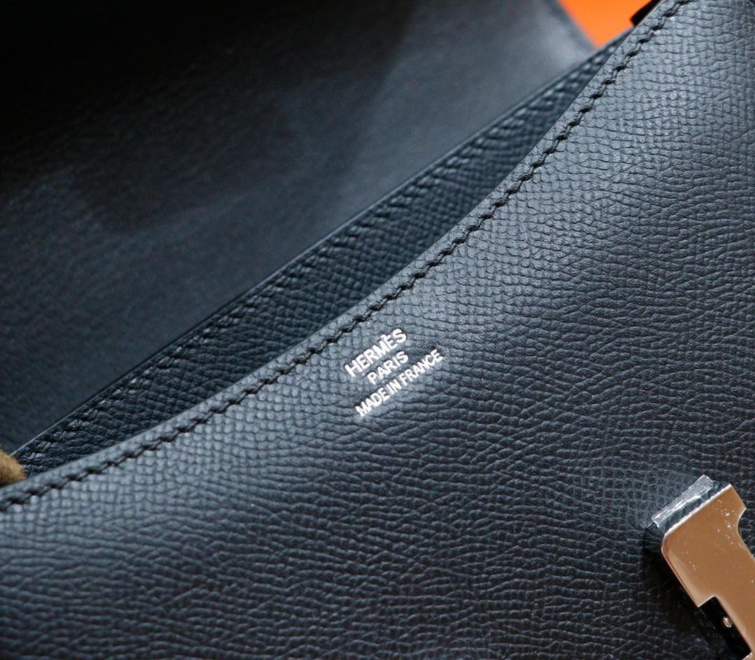 Hermès(爱马仕)Constance 空姐包 黑色 Epsom 银扣 19cm 全手缝