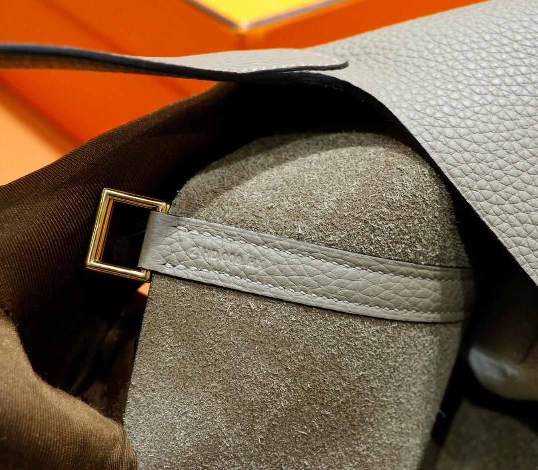 Hermès(爱马仕)Picotin 菜篮子 沥青灰 Togo 全手缝 金扣 18cm