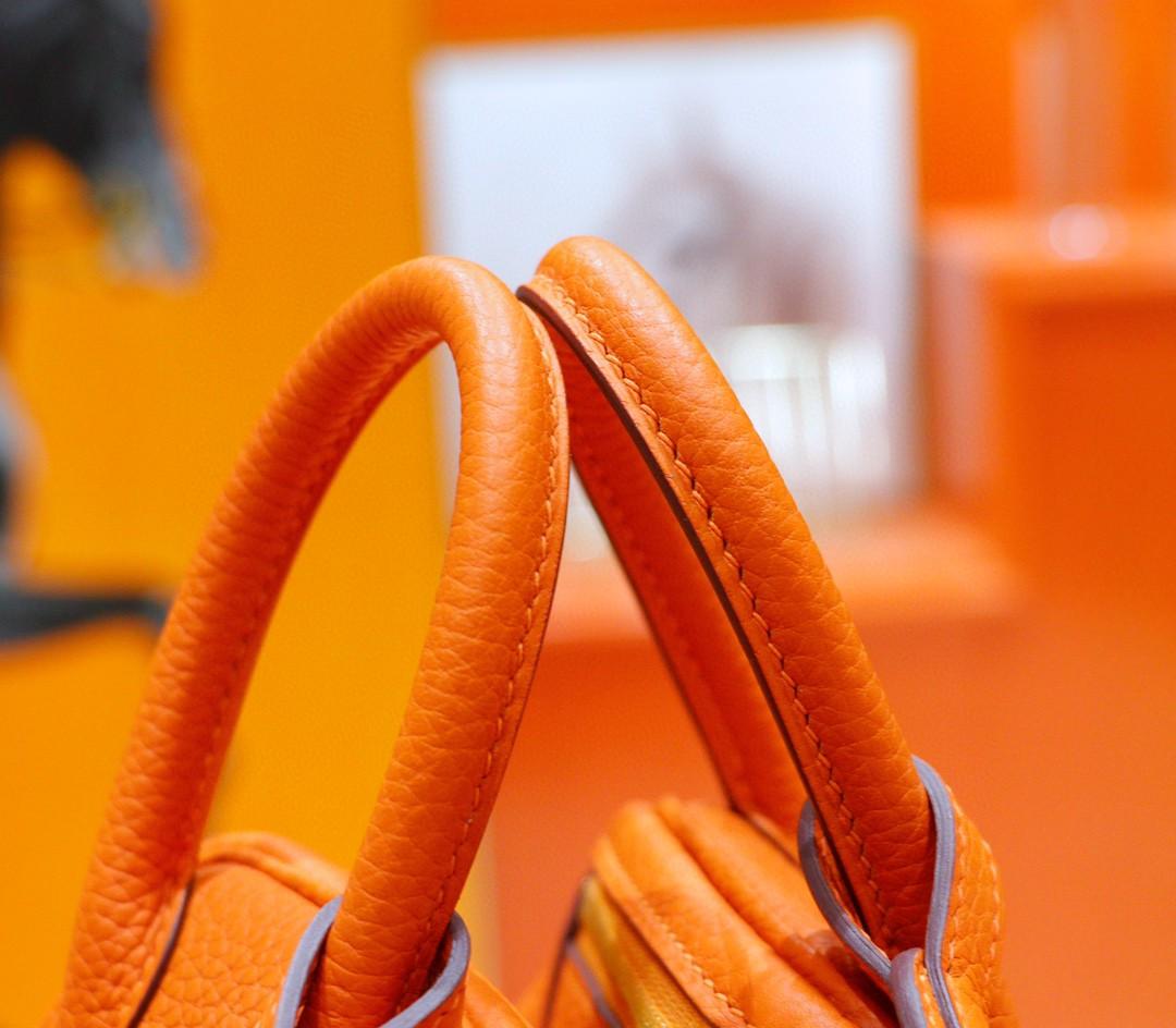 Hermès(爱马仕)Lindy 琳迪包 橙色 Togo 全手缝 金扣 20cm