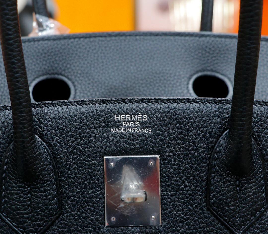 Hermès(爱马仕)Birkin 铂金包 黑色 Togo 全手缝 银扣 35cm