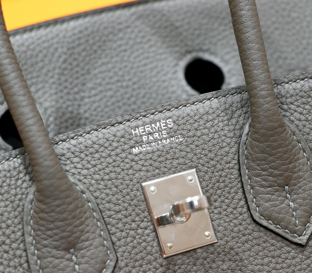 Hermès(爱马仕)Birkin 铂金包 锡器灰 Togo 银扣 25cm 全手缝