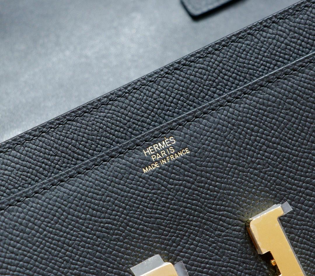Hermès(爱马仕)Constance ToGo 黑色 Epsom 全手缝 金扣