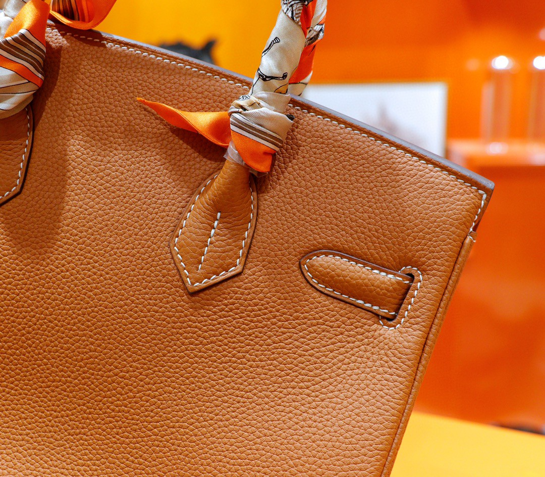 Hermès(爱马仕)Birkin 铂金包 金棕 Togo 全手缝 金扣 30cm