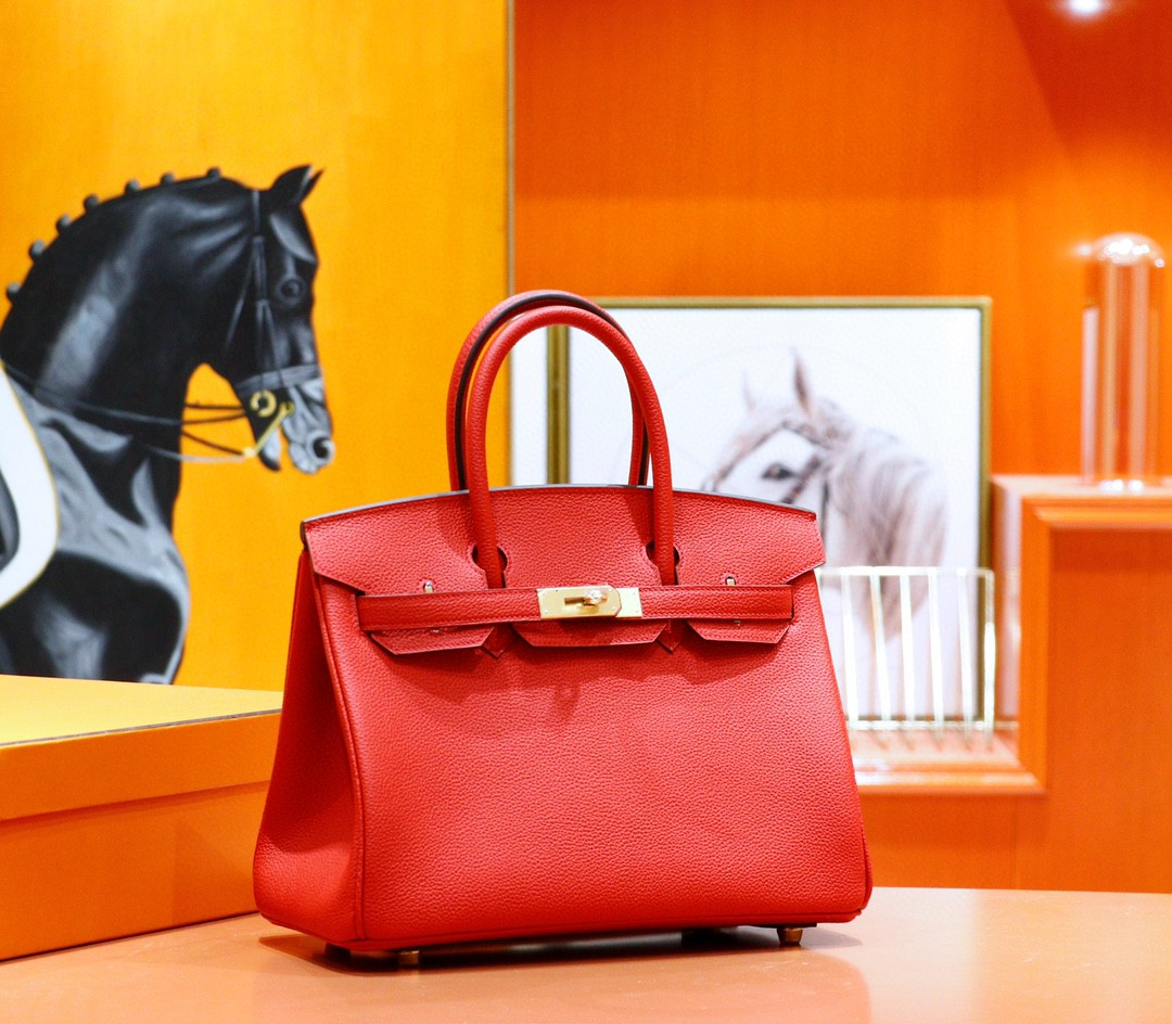 Hermès(爱马仕)Birkin 国旗红 Togo 全手缝 金扣 30cm