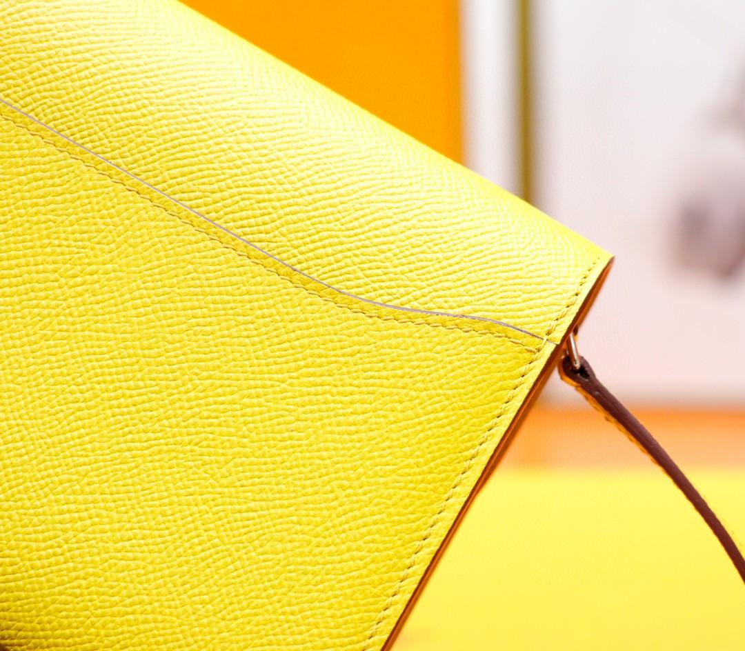 Hermès(爱马仕)Constance ToGo 琥珀黄 Epsom 全手缝 银扣