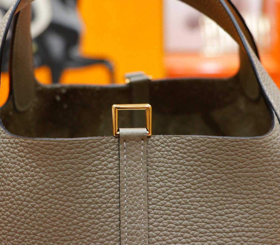 Hermès(爱马仕)Picotin 菜篮子 沥青灰 Togo 全手缝 金扣 22cm