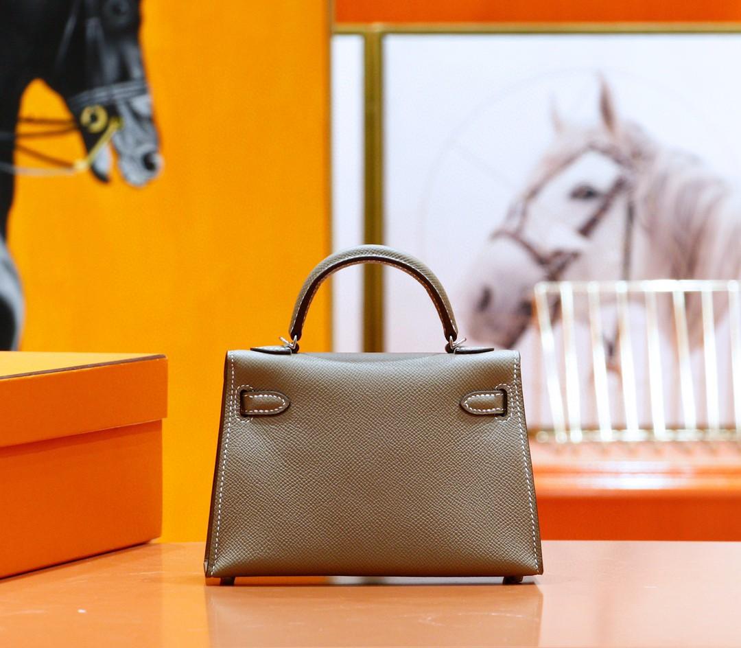 Hermès(爱马仕)Minikelly 迷你凯莉 大象灰 Epsom 全手缝 银扣 2代