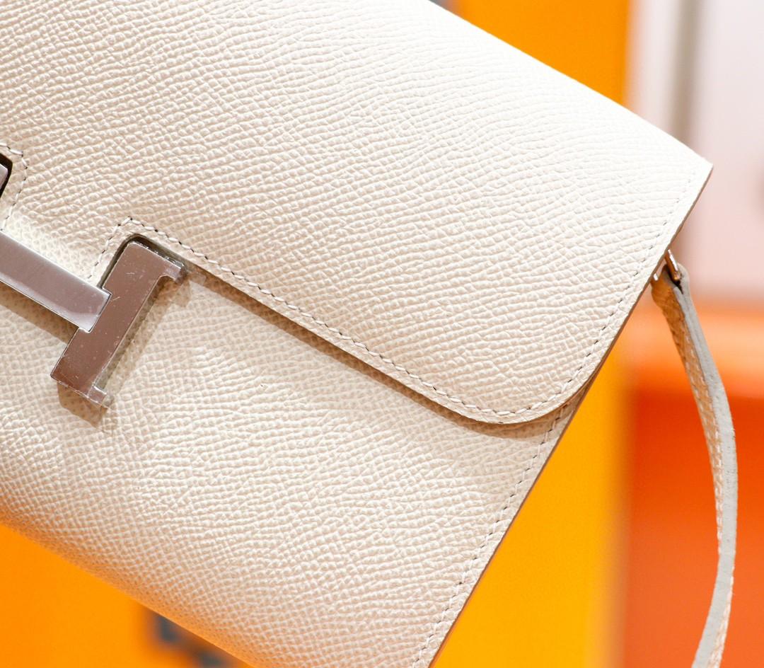 Hermès(爱马仕)Constance TOGO 奶昔白 Epsom 全手缝 银扣