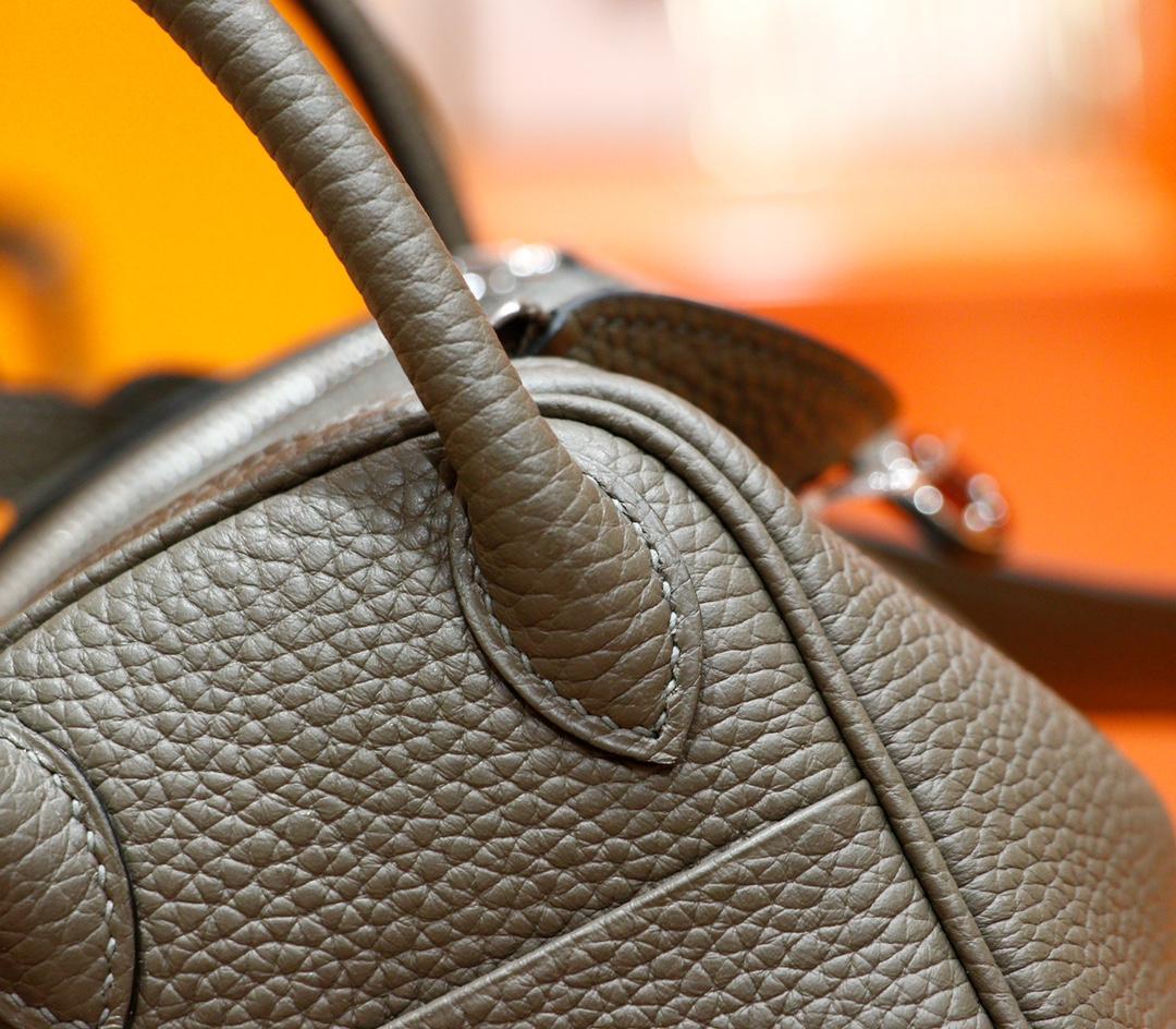 Hermès(爱马仕)Mini Lindy 迷你琳迪包 锡器灰 Togo 全手缝 银扣 20cm