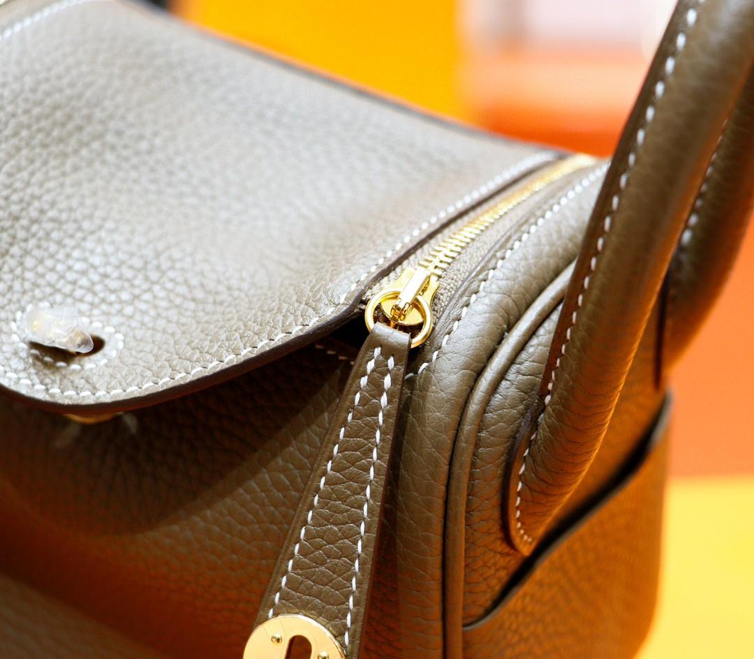 Hermès(爱马仕)Lindy 琳迪包 大象灰 Togo 全手缝 金扣 20cm