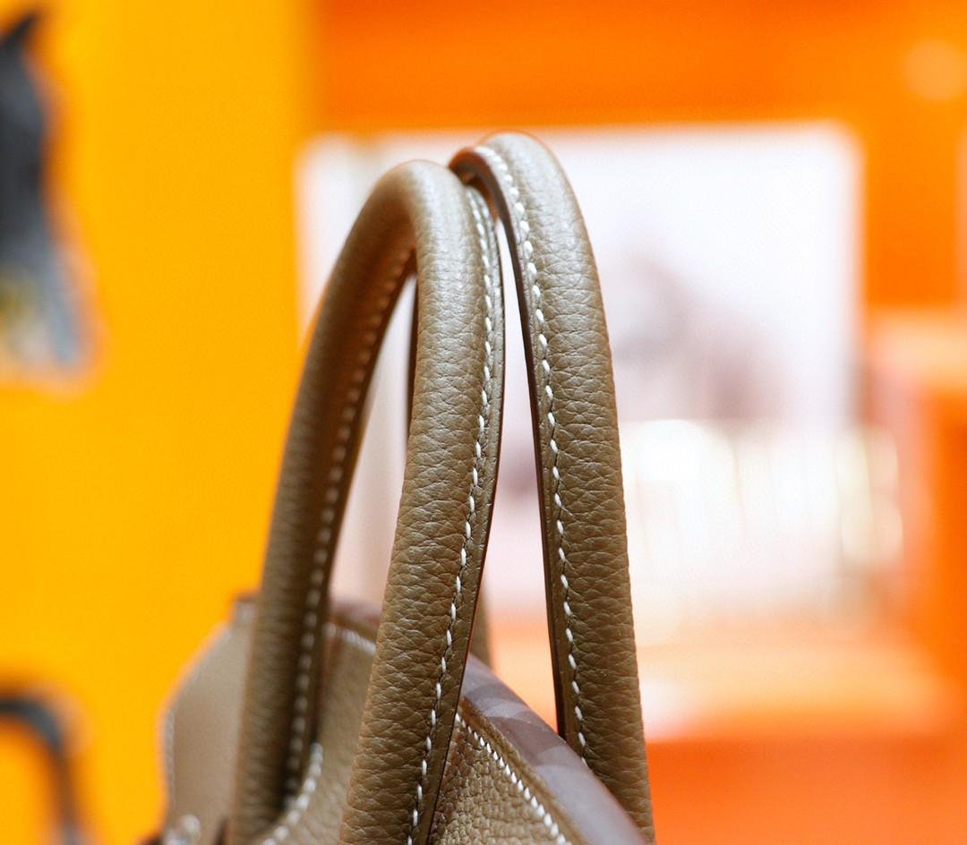 Hermès(爱马仕)Birkin 铂金包 大象灰 Togo 全手缝 银扣 25cm