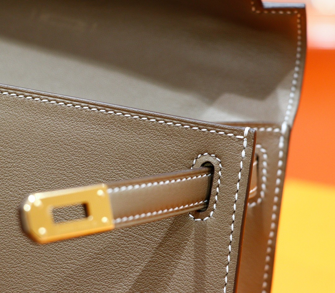 Hermès(爱马仕)Minikelly 迷你凯莉 大象灰 Swift 全手缝 金扣 一代