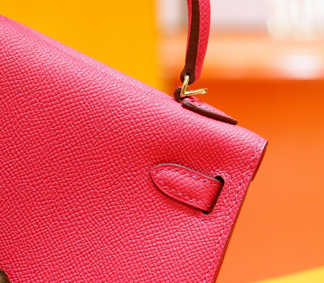 Hermès(爱马仕)Minikelly 迷你凯莉 国旗红 Epsom 全手缝 金扣 2代