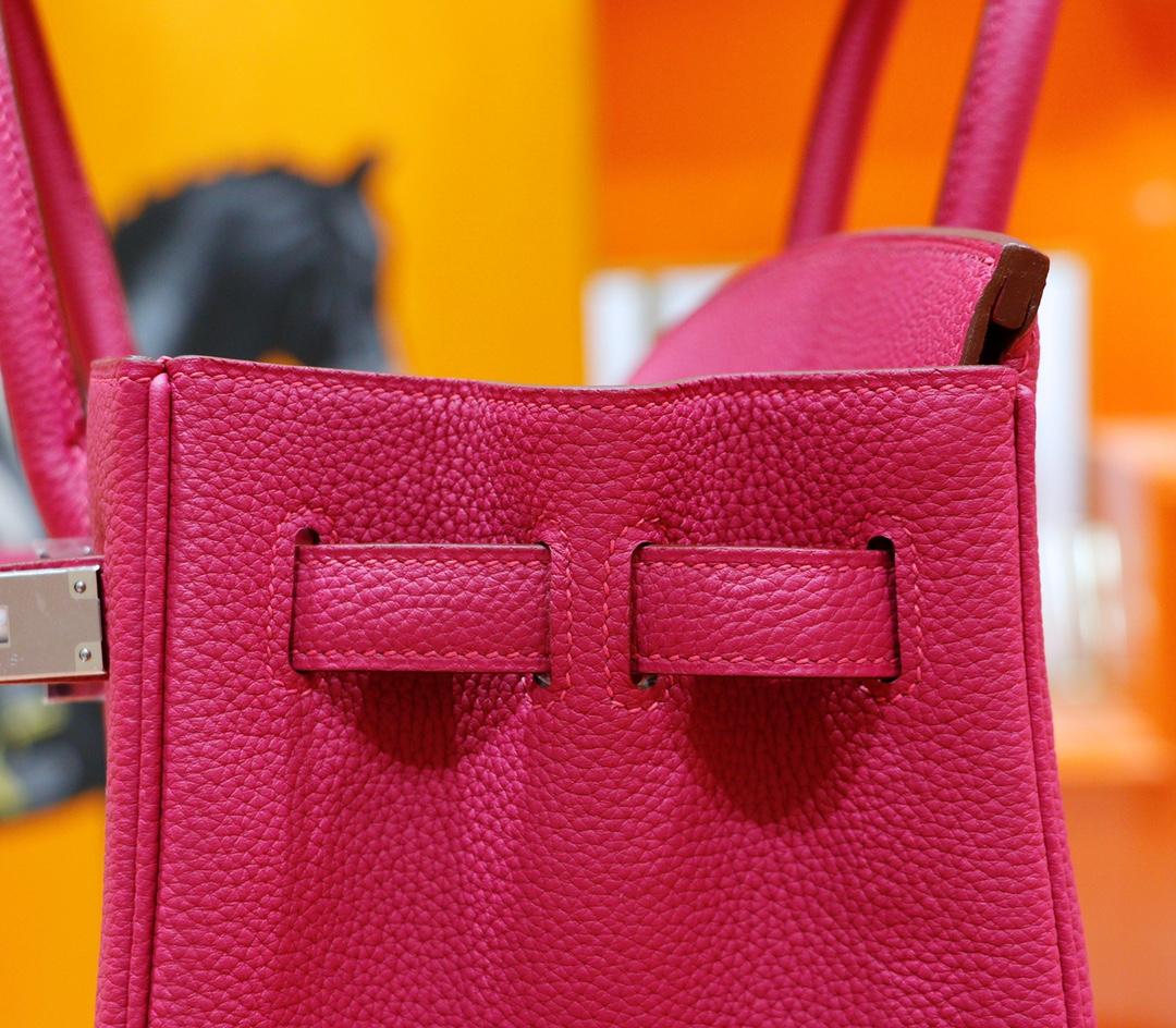 Hermès(爱马仕)Birkin 铂金包 玉兰粉 Togo 全手缝 银扣 30cm
