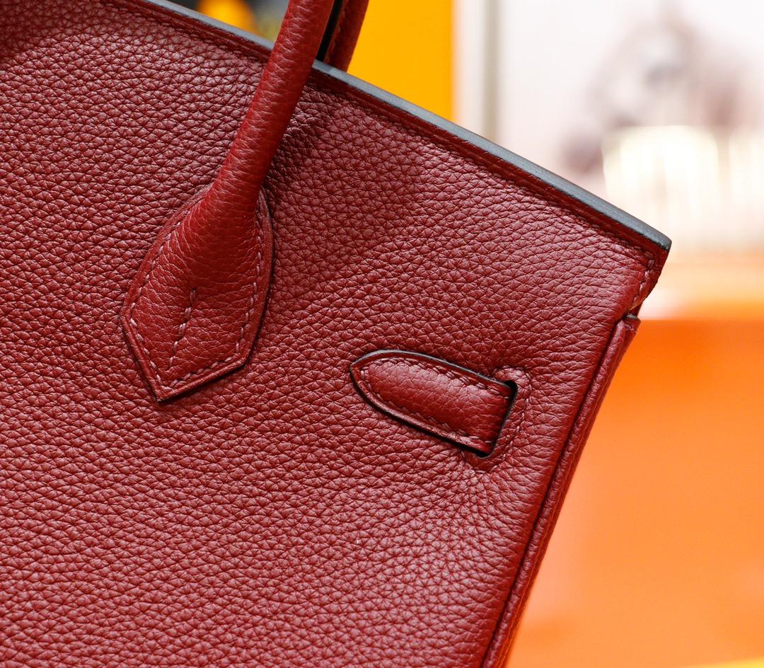 Hermès(爱马仕)Birkin 铂金包 宝石红 Togo 全手缝 金扣 25cm
