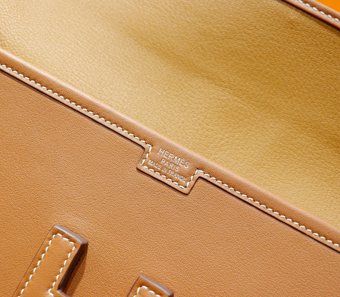 Hermès(爱马仕)Jige 长款手包 金棕 Swift 全手缝