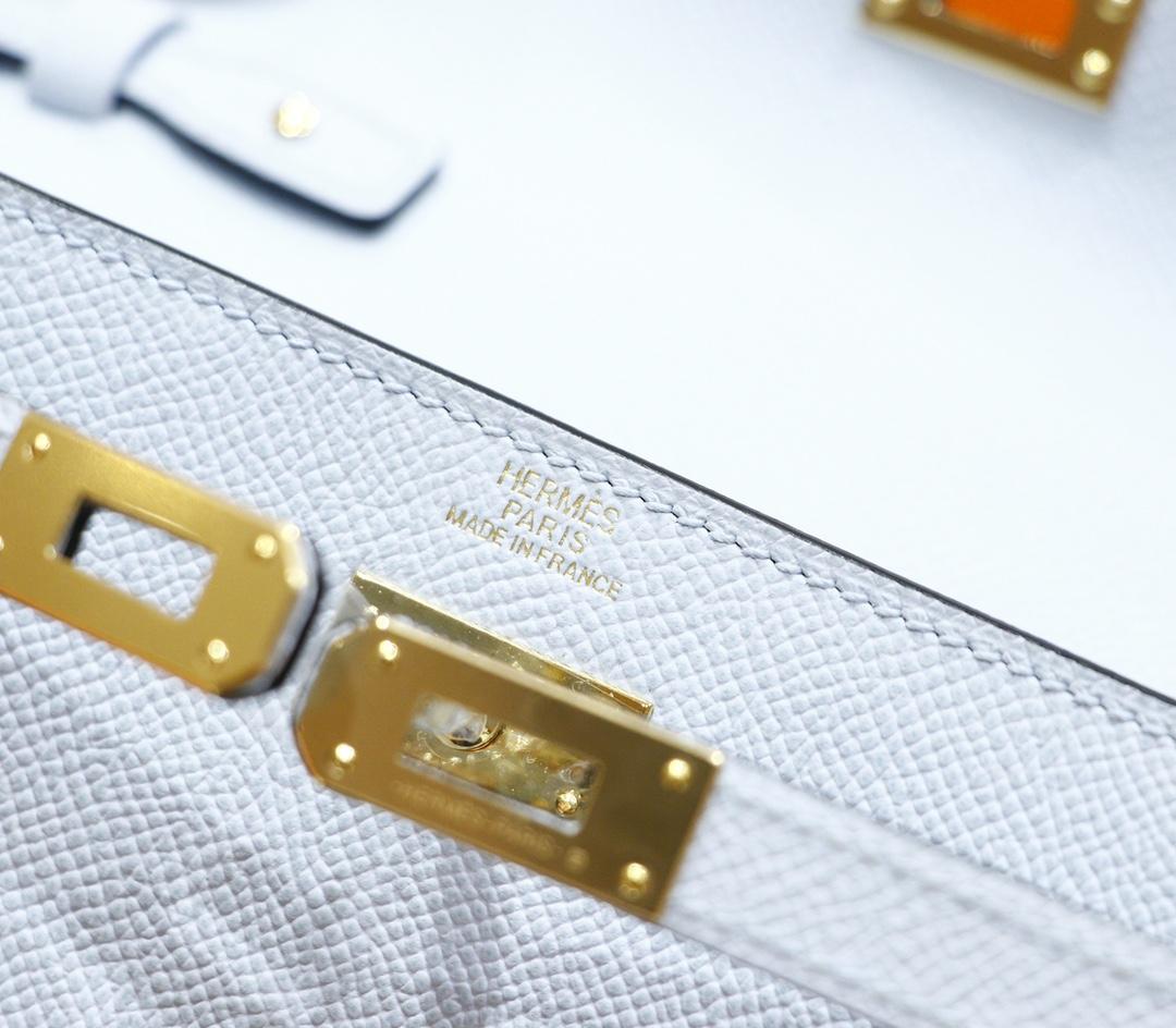 Hermès(爱马仕)Kelly ToGo 雾霾蓝 Epsom 全手缝 金扣
