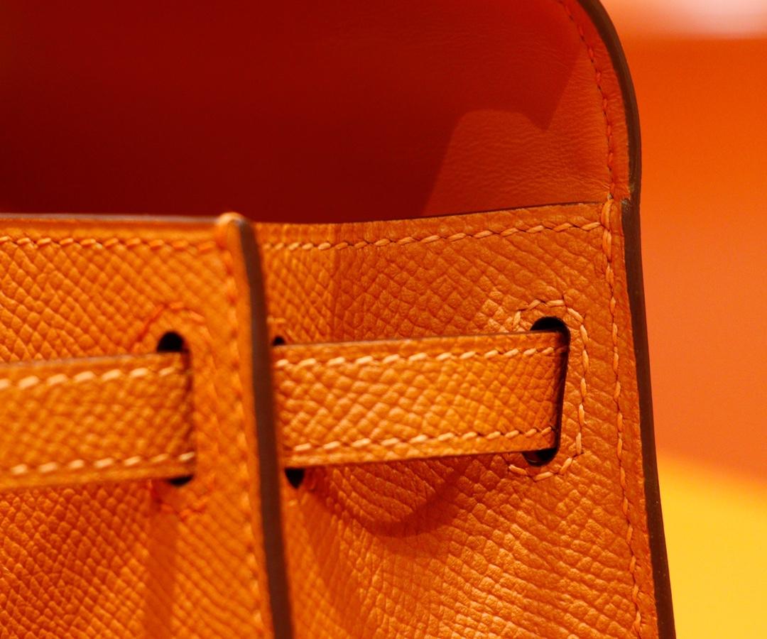 Hermès(爱马仕)Minikelly 迷你凯莉 橙色 Epsom 全手缝 金扣 2代