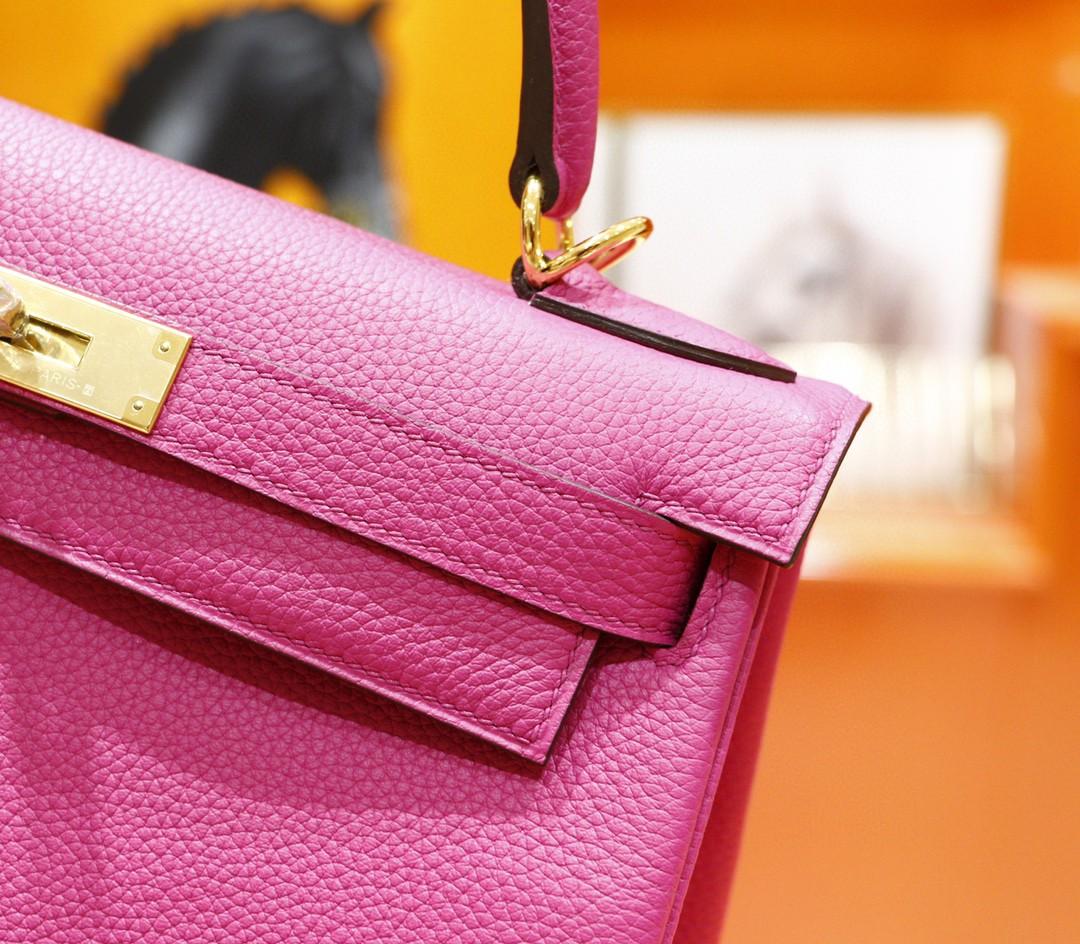 Hermès(爱马仕)Kelly 凯莉包 玉兰粉 Togo 全手缝 金扣 28cm