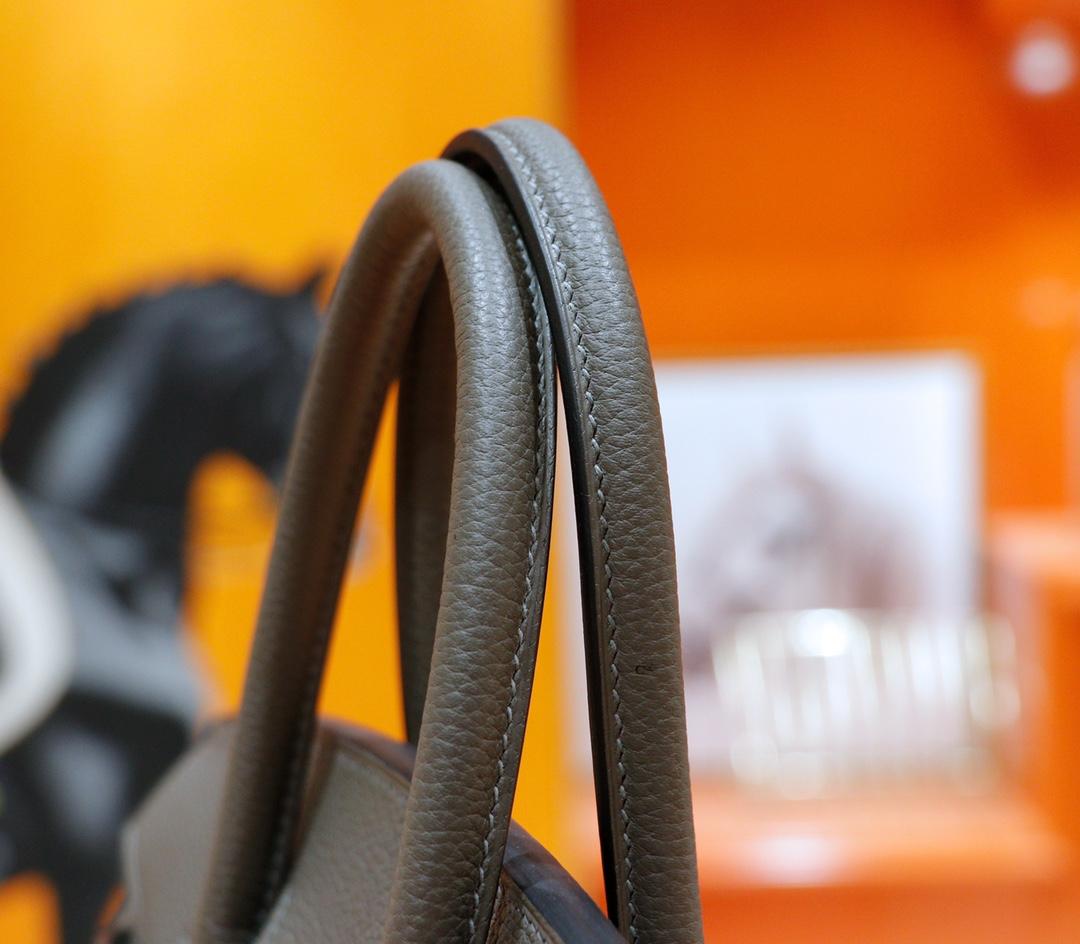 Hermès(爱马仕)Birkin 铂金包 锡器灰 Togo 全手缝 银扣 30cm