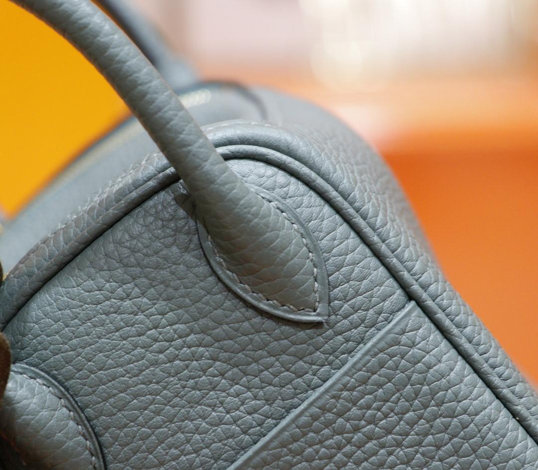 Hermès(爱马仕)Lindy 琳迪包 杏仁绿 Togo 全手缝 金扣 20cm